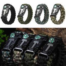 Buy MUQGEW Outdoor Camping Survival Bracelet Compass Emergency Flint Fire Starter Whistle Camping Gear Kits #EW for $1.37 in AliExpress store
