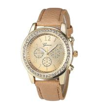 Yoner Watch Fashion luxury watches Women  Faux Chronograph Quartz Classic Round Ladies Women Crystals Wristwatch Feminino Montre