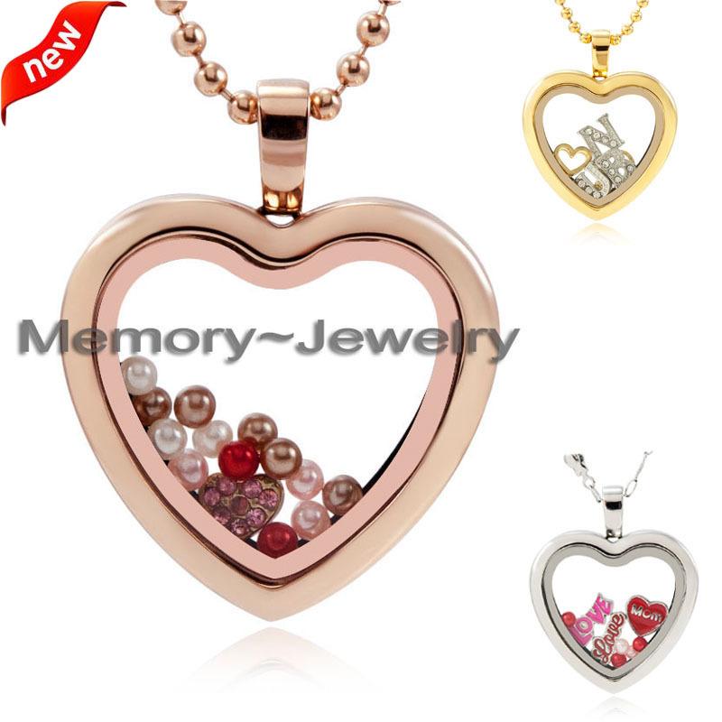 2015 new 30mm stainless steel heart locket! sliver ,gold, rose gold floating open heart locket pendant design<br><br>Aliexpress