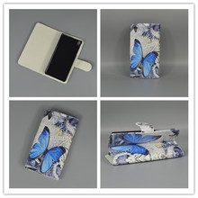 Butterfly Flower Flag Designer Wallet Flip Stand Book Cover Case Sony Xperia E5 F3313 F3311 freeshipping - only case store