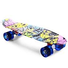 CL - 85 Printing Graffiti Style Skateboard Complete 22 inch Dragon Skateboard Retro Cruiser Longboard Retro Skate Long Board(China (Mainland))