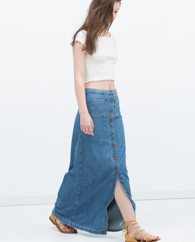 Beautiful 2015 Fashion Women Long Skirt High Waist Pleated Maxi Skirts Womens