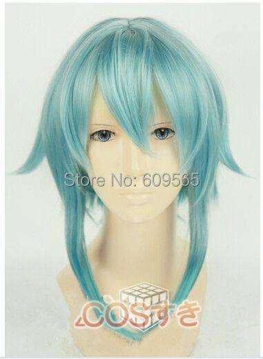 !2014!NEW Sword Art Online Gun Gale Sinon Ice green short cosplay wig