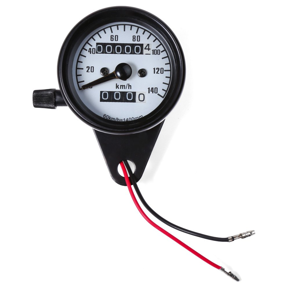 Dual Odometer Speedometer Gauge Speed Meter High Quality Motorcycle Modification Part Night Light LED Backlight B731 Universal(China (Mainland))