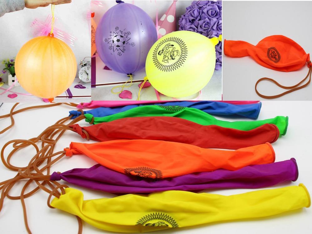 12Pcs Mixed Color Latex Balloon Punch Balls Birthday Party Favors(China (Mainland))