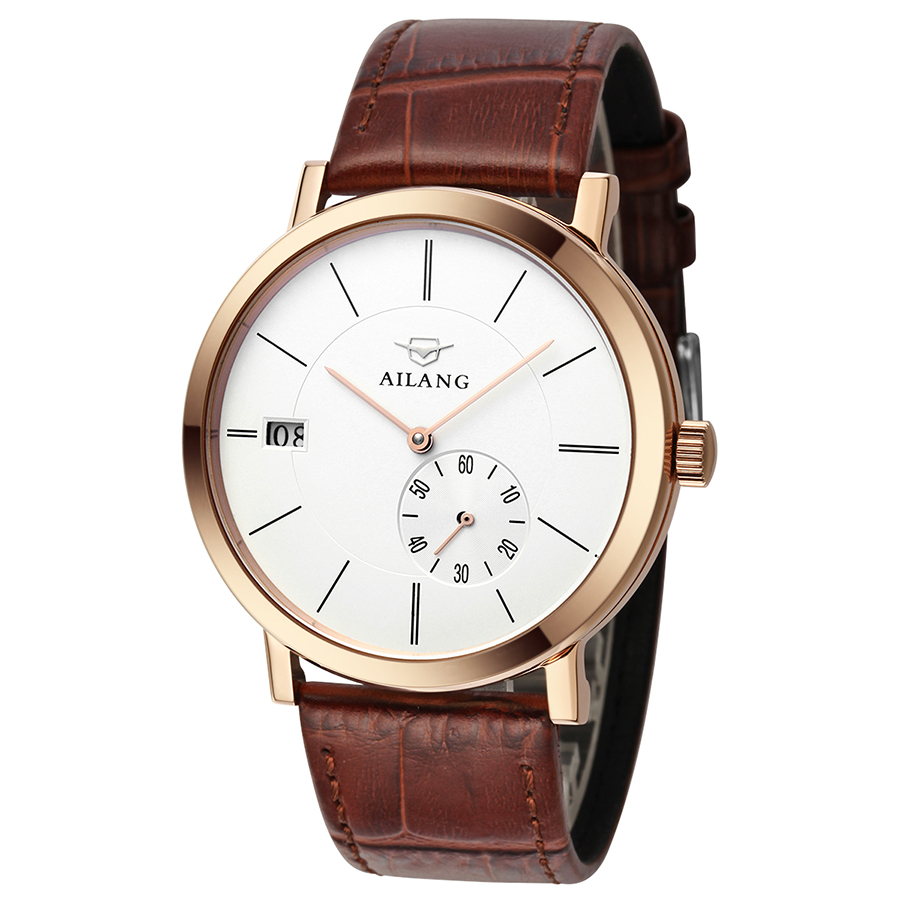 AILANG New Arrival Upstart Luxury Complete Calendar Clock Fashion Relogio Masculino Style Wrist Watch Mechanical Men Watches<br><br>Aliexpress