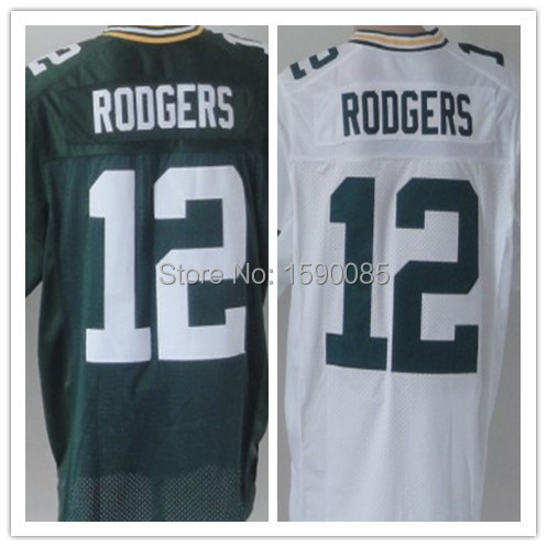 American Bay Packers#12 Aaron Rodgers elite Football Jersey,Best quality,Authentic Jersey,Size M L XL XXL XXXL,Accept Mix Order(China (Mainland))