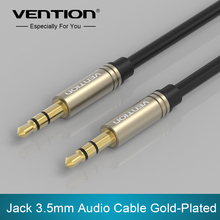 Vention Aux Cable 3 5mm to 3 5 mm Jack Audio Cable Gold plated Male to