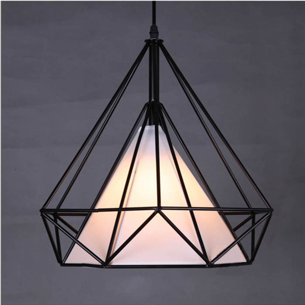 Modern novelty innovative pendant lamp wrought iron cage for Luminaire metal