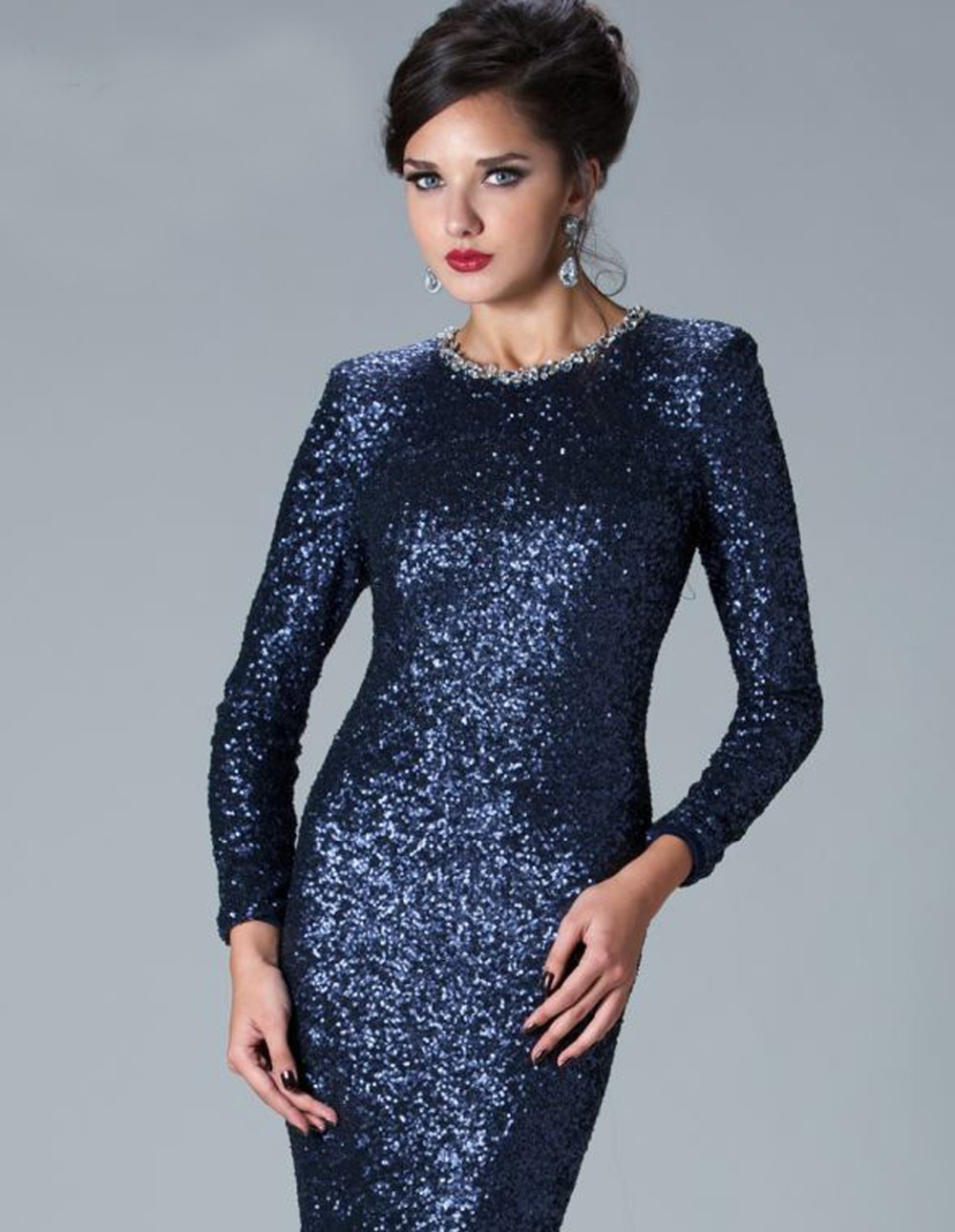 Funky Long Sleeve Sequin Party Dress Picture Collection - All ...