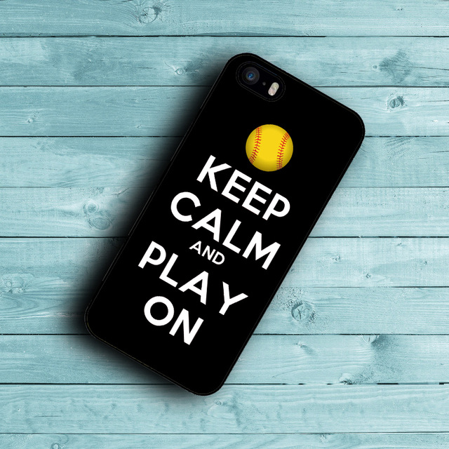 Keep Calm and Play On baseball Phone case for Huawei 3C 4X Honor 6 7 Ascend P6 P7 P8 Lite P9 Lite Mate 7 8(China (Mainland))