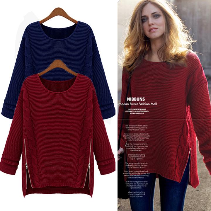 2014 New Women Autumn Winter Fashion personality long sleeve knit sweater - shenzhen SamHot Technology Co.,Ltd. store