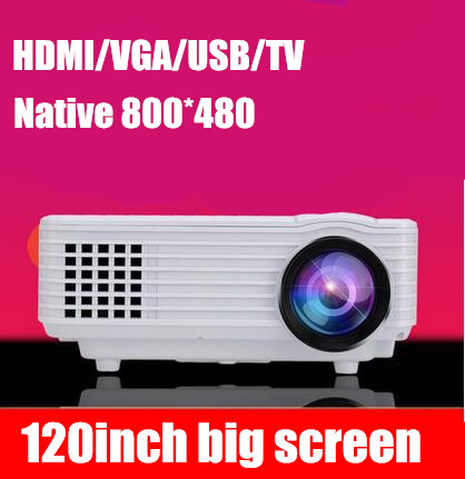2015 Newest Smallest TV USB AV HDMI VGA LED Digital LCD Video Game Pico Mini 3D Projector projetor Beamer 1080p for pc beamer(China (Mainland))