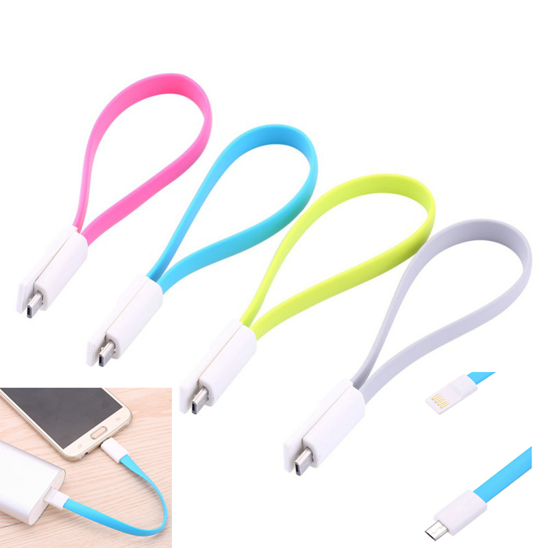 20cm Flat Noodle Mini USB Cable Micro USB Sync Data Cord For Android Samsung HTC LG Huawei Phone Tablet Cable Usb Cable Charging(China (Mainland))