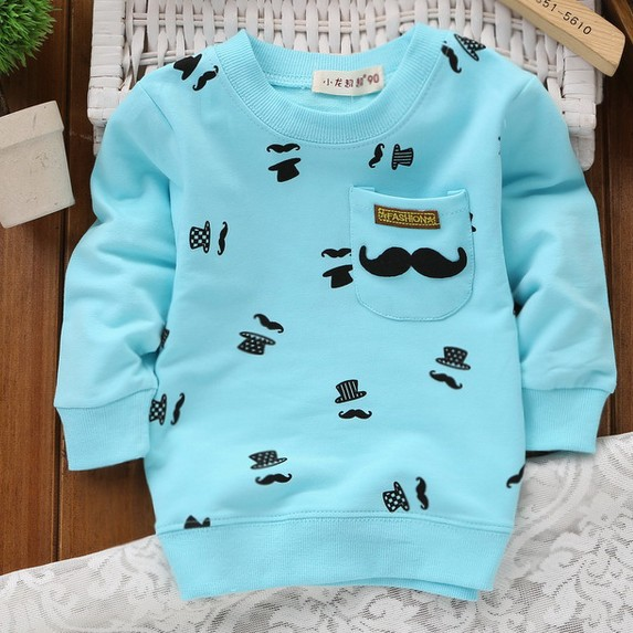 New Boys Clothes 2015 Spring/ Autumn Children Long-Sleeved T Shirts Children's Clothing Cotton Infant Boys T-shirts 5 Colors(China (Mainland))
