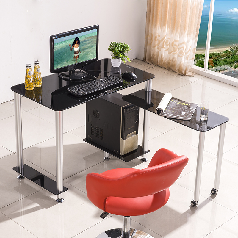 simple modern corner table and desktop computer desk home