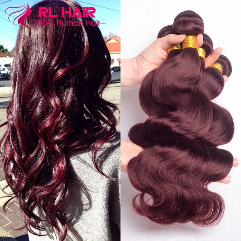 Burgundy Brazilian Hair Weave Bundles Grade 7A Wine Red 99J Brazilian Virgin Remy Human Hair Body Wave 3/4Pcs Rosa Hair Products<br><br>Aliexpress