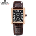 Couple Woman&men Casual Watches Luxury Brand Square Dial Fashion Leather Strap Lover's Dress Quartz Watch Relogios Femininos
