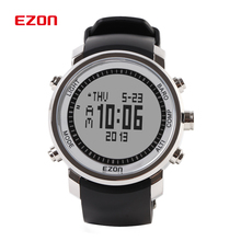 Fashion EZON Digital Watch Men Outdoor Sports Hiking Mountaineering Climbing Watches 50M Waterproof Altimeter Compass Barometer