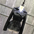 Lady Genuine Sheep Leather Jacket Spring Fashion Women Overcoat Natural Sheep Leather Garment 100 Real Sheepskin