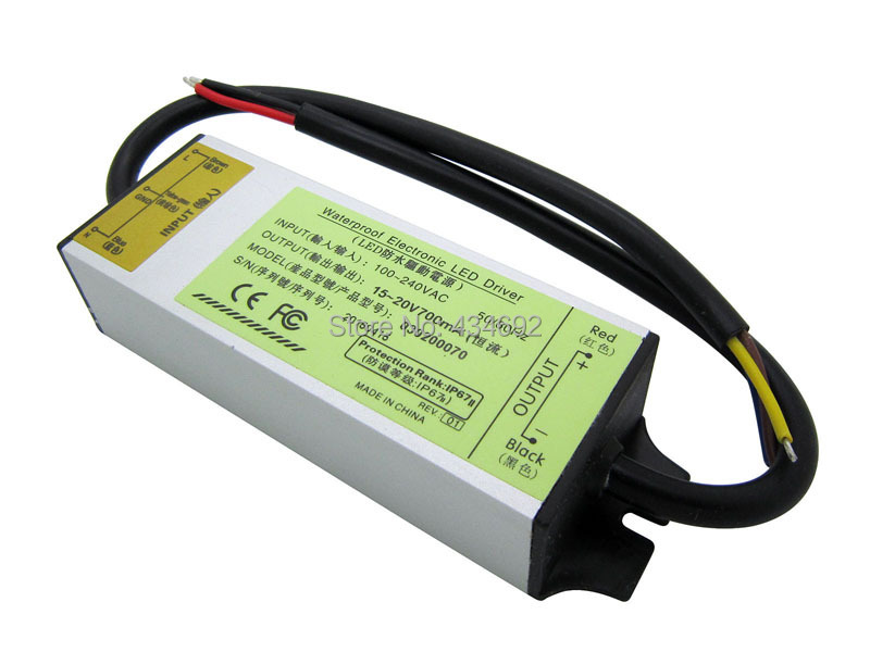 HOT Aluminium Alloy IP67 Waterproof 20W Infrared 700MA 15-20V Led Driver For 730NM/ 850NM / 940NM Led Lighting Transformer(China (Mainland))
