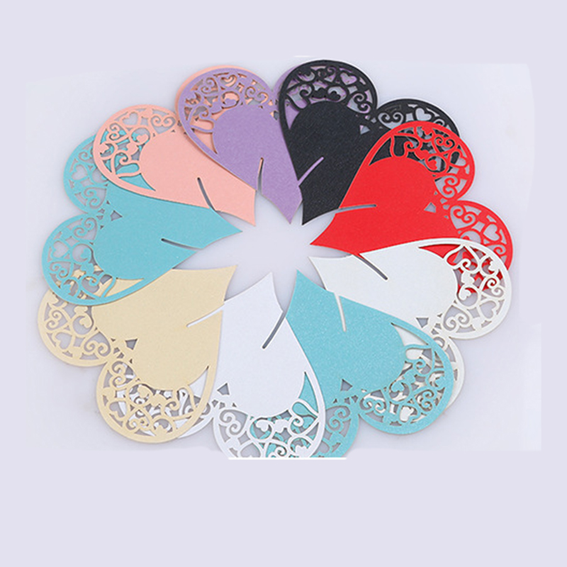 20pcs Laser Cut Hollow Love Wedding seat card Guests desk sets cards blackjack card Wedding Party Favor Decorations D(China (Mainland))
