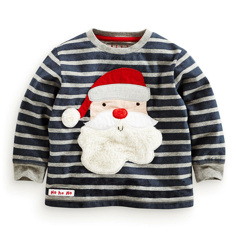 2015 New Children T Shirts 2-6Years Export USA 100% Cotton Baby Boys Clothes Long Sleeve Kids Clothes T-shirts for Girls CCU10(China (Mainland))