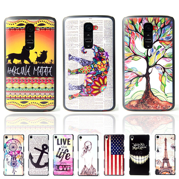 """G2 Mini Ultra Thin Cartoon Pattern Matte Hard Plastic Back Case for LG G2 Mini D410 D620 4.7"""" Cell Phone Protective Cover Bags(China (Mainland))"""