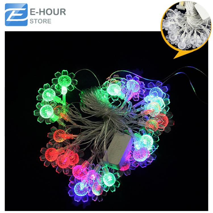 28pcs LED Bead About 4m LED Sunflower Decorative Lamp Christmas LED Strip Colorful Home Decoration(Hong Kong)