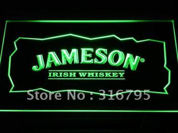 a159-g Jameson Whiskey Bar Club Pub LED Neon Light Sign