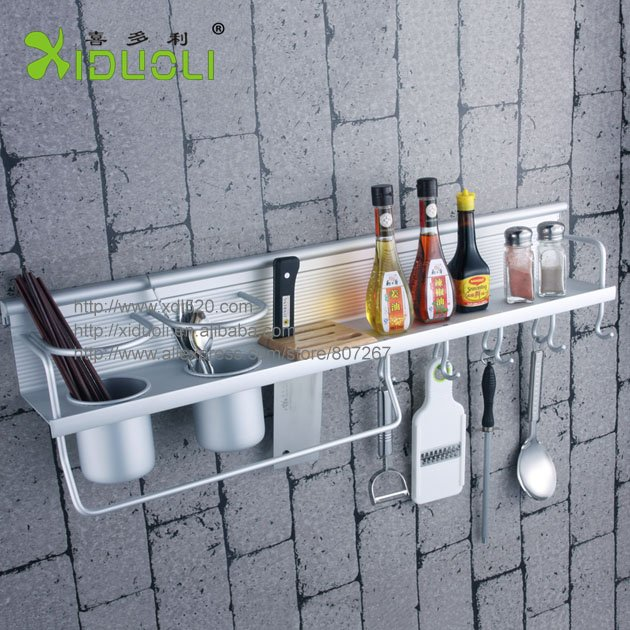 Wall Mounted Kitchen Shelf kitchen easy wall mounted kitchen shelf kitchen wall shelves Xiduoli Free Shipping Wall Mounted Kitchen Knife Rack Space Aluminum Kitchen Accessories Shelf Xdl 1324