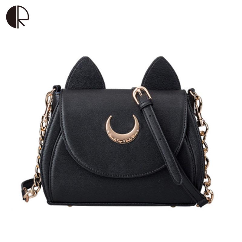 Hot Fashion Style Bags Famous Cute Design Women Messenger Bag Moon LUNA Vega Sailor Handbags Cat Shoulder BS550 - Bestore Co., Ltd store