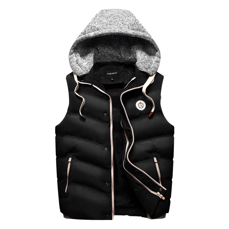 Parka Men Parkas Hombre Invierno 2016 Brand New Warm Cotton-padded Men Casual Vest Movable Hooded Slim Design Hot SY088-586 BB(China (Mainland))