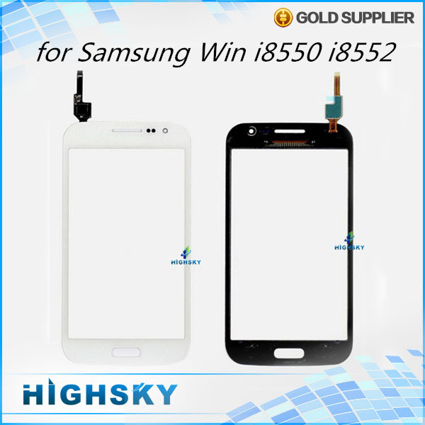 Replacement parts lcd glass with flex cable for touch samsung Galaxy Win duos i8552 i8550 digitizer 10 pcs/lot free shipping(China (Mainland))