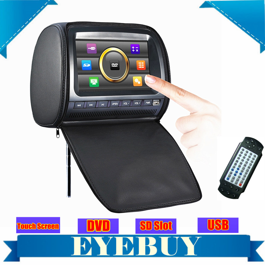 9 inch universal car auto dvd headrest monitor touch screen USB SD MP3 speaker car dvd player for vw ford kia toyota nissian(China (Mainland))