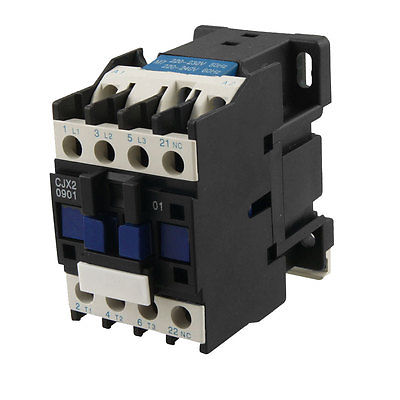 CJX2-0901 AC Contactor 9A 3 Phase 3-Pole NC 220V 50/60Hz Coil<br><br>Aliexpress