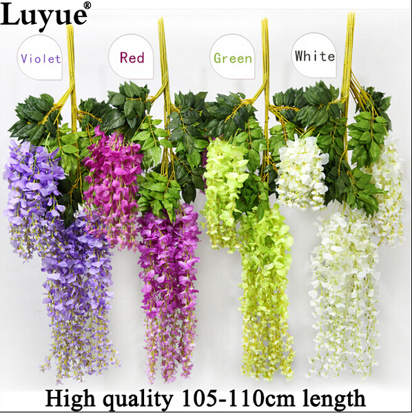 Wedding decoration silk flower garland artificial flower for Artificial flowers for home decoration india