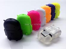 Mini Android robot Micro USB OTG adapter for Samsung Lenovo Huawei SONY LG XIAOMI font b