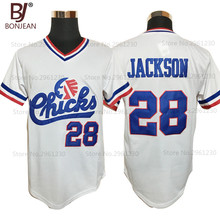 Cheap Mens #28 Bo Jackson Chicks Throwback Baseball Jersey White Movie Jersey Stitched American Baseball Shirts(China (Mainland))