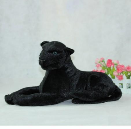 simulation animal 85cm lying Panther plush toy black panther doll gift k0595(China (Mainland))