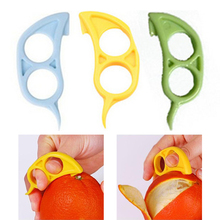 Mouse Shape Orange Citrus Opener Peeler Remover Slicer Cutter Quickly Stripping Kitchen Tool Randomly(China (Mainland))