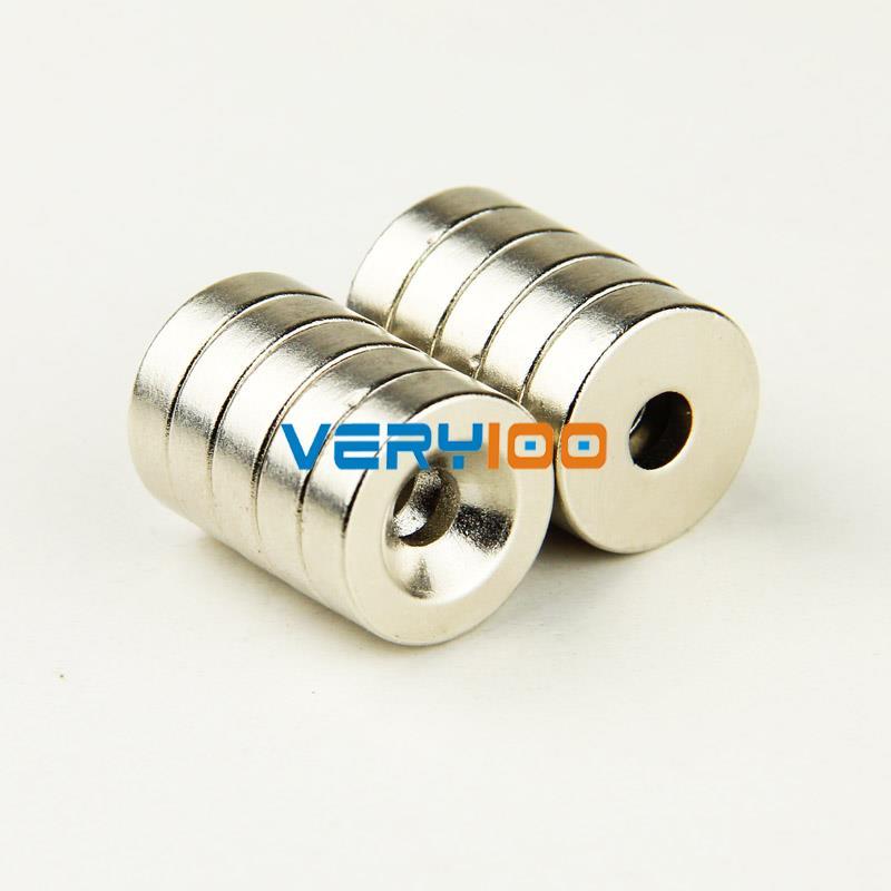 Гаджет  Lot 5pcs Strong Counter Sunk Ring Magnet 18 x 5mm Hole 5mm Rare Earth Neodymium None Строительство и Недвижимость