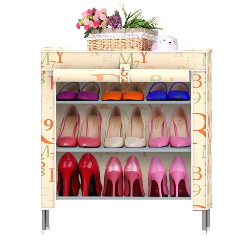 Shoe cabinet hign quality shoe storage Shoe racks shelf for shoes Non-woven fabrics furniture mueble zapatero(China (Mainland))