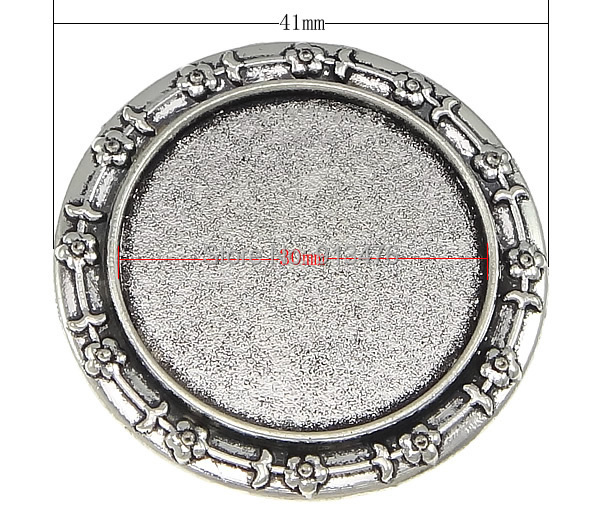Free shipping!!!Zinc Alloy Brooch Finding,Costume jewelry, Flat Round, antique silver color plated, nickel, lead &amp; cadmium free<br><br>Aliexpress
