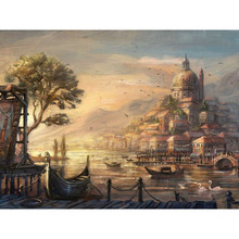 Frameless Urban Landscape Painting By Numbers Kits Drawing Painting By Numbers Acrylic Paint On Canvas For Home Decor Artwork(China (Mainland))