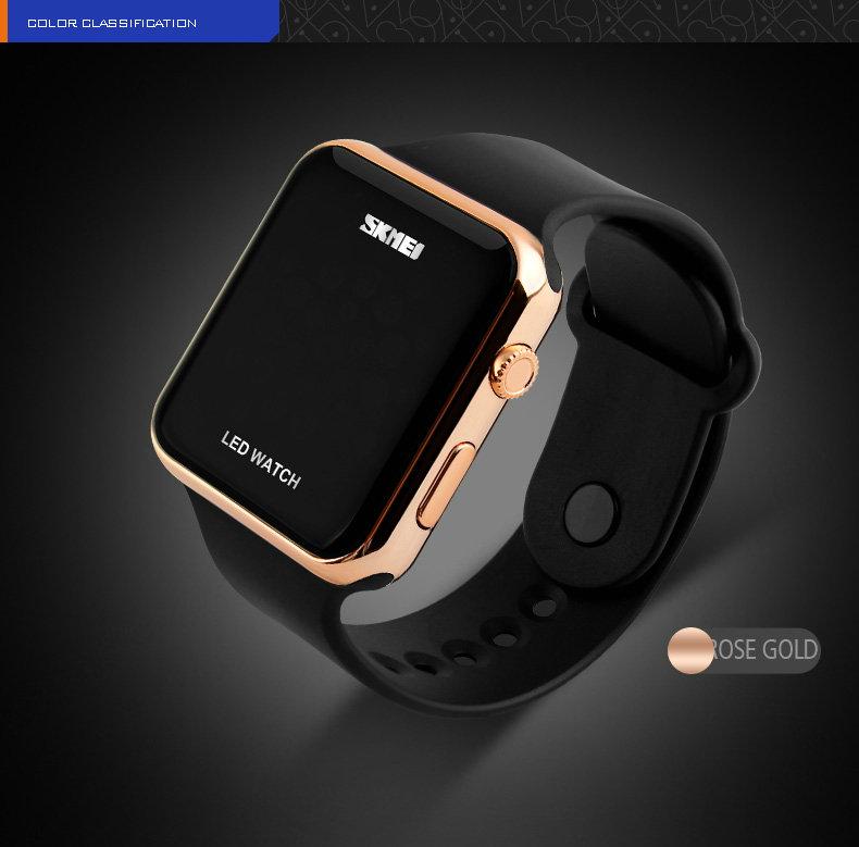 Пары подарок Водонепроницаемый Китай Светодиодные Часы Спорт Мода Стиль цифровой календарь электронные часы синий женщины движение