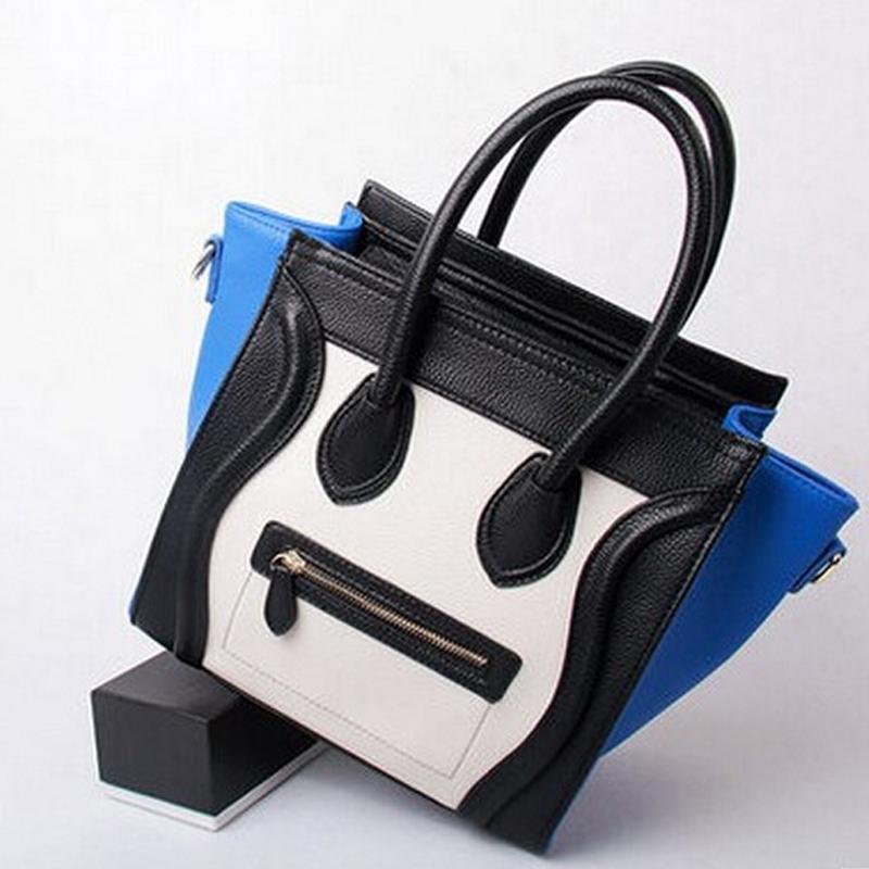New Famous Designers C Brands Smiley line Bags Plain Genuine Leather Women Handbag Women Message Bag(China (Mainland))