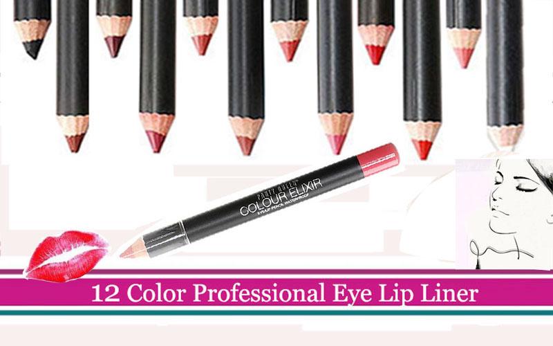1 pçs/lote Rainha Do Partido Nova Marca de Maquiagem Profissional Delineador Lápis Multicolor Olhos de Sobrancelha Beleza Pen Eye Liner Lip Cosméticos