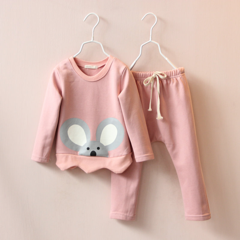 2015 children's clothing for boys and girls koala hedging sweater + harem pants piece fitted(China (Mainland))