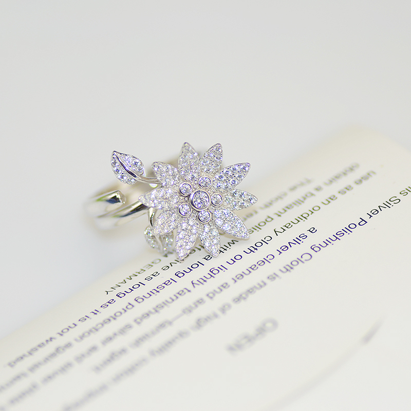 s925 sterling silver micro CZ stone ring coconut tree shape twice atmospheric luxury fashion for women(China (Mainland))